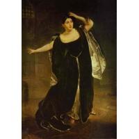 Portrait of the actress juditta pasta as anne boleyn