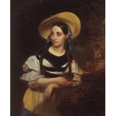 Portrait of the italian singer fanny persiani tacinardi