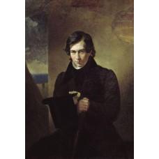 Portrait of the poet and playwright nestor kukolnic