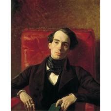 Portrait of the poet and translator a n strugovshchikov