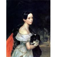 Portrait of u m smirnova 1840