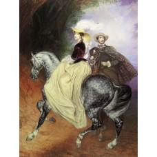 Portrait of ye mussart and e mussart riders