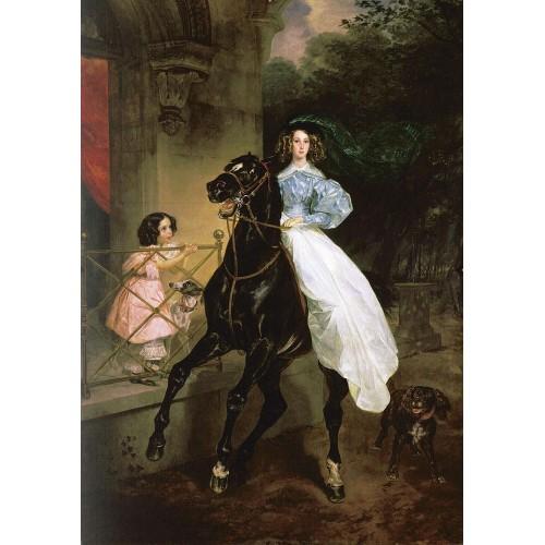 Rider portrait of giovanina and amacilia pacini