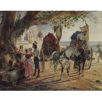 Stroll at albano 1833