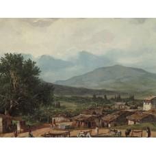 Village of san rocco near the town of corfu