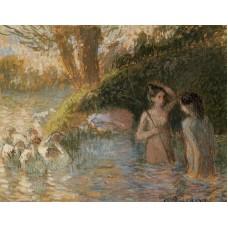 Bathing Goose Maidens