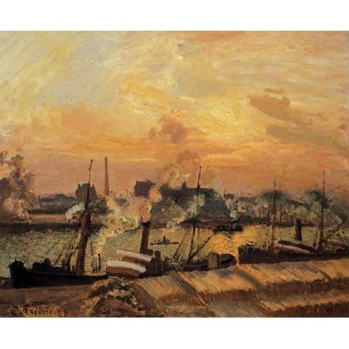 Boats Sunset Rouen