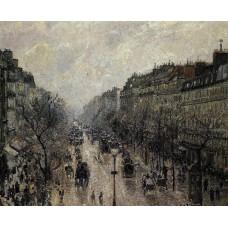 Boulevard Montmartre Foggy Morning