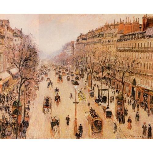 Boulevard Montmartre Morning Grey Weather