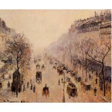 Boulevard Montmartre Morning Sunlight and Mist