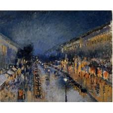 Boulevard Montmartre Night Effect