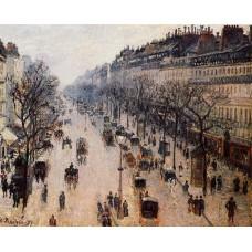 Boulevard Montmartre Winter Morning