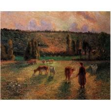 Cowherd at Eragny