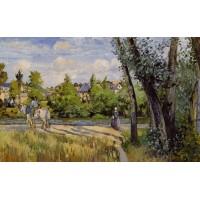 Landscape Bright Sunlight Pontoise