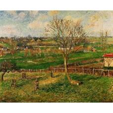 Landscape Fields Eragny