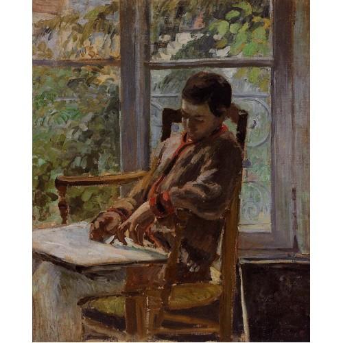 Lucien Pissarro in an Interior