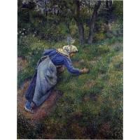Peasant Gathering Grass