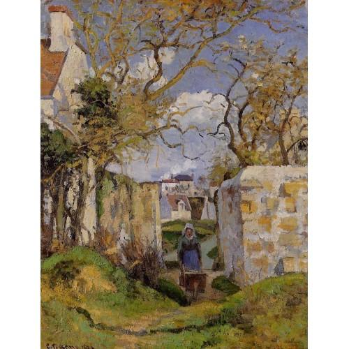 Peasant Pushing a Wheelbarrow Maison Rondest Pontoise