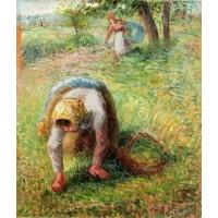 Peasants Gathering Grass