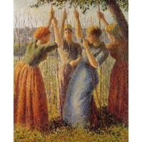 Peasants Planting Pea Sticks