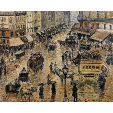 Place du Havre Paris Rain