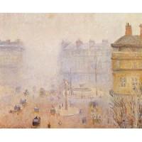 Place du Theatre Francais Foggy Weather