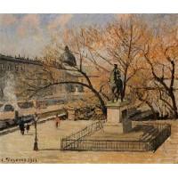 Pont Neuf the Statue of Henri IV Morning Sun