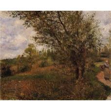 Pontoise Landscape Through the Fields