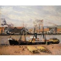 Port of Rouen Unloading Wood
