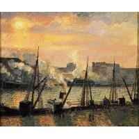 Quay in Rouen Sunset