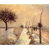 Road at Eragny Winter