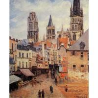 Rue de l'Eppicerie Rouen Morning Grey Weather
