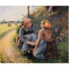 Seated and Kneeling Peasants