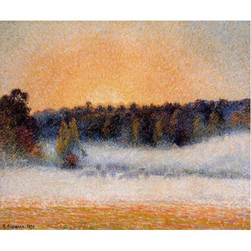 Setting Sun and Fog Eragny