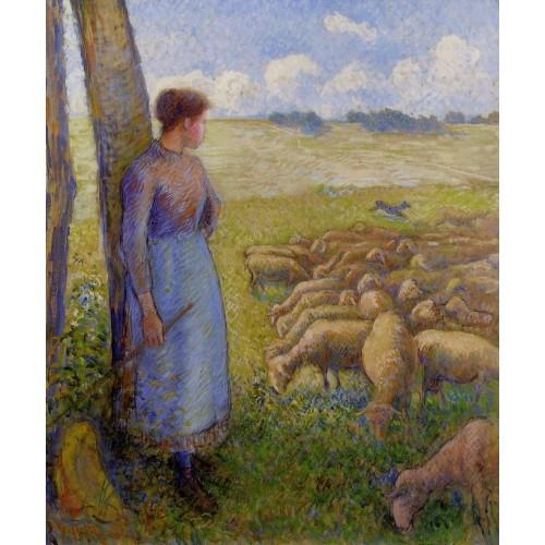 Shepherdess and Sheep