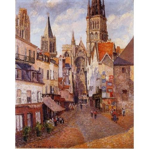 Sunlight Afternoon La Rue de l'Epicerie Rouen
