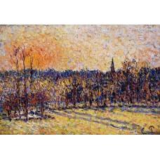 Sunset Bazincourt Steeple