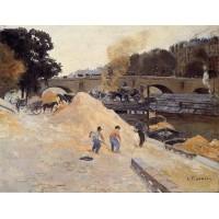 The Banks of the Seine in Paris Pont Marie Quai d'Anjou