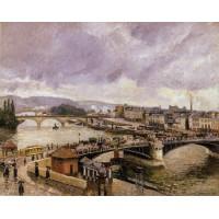 The Boieldieu Bridge Rouen Rain Effect