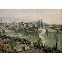 The Corneille Bridge Rouen Grey Weather