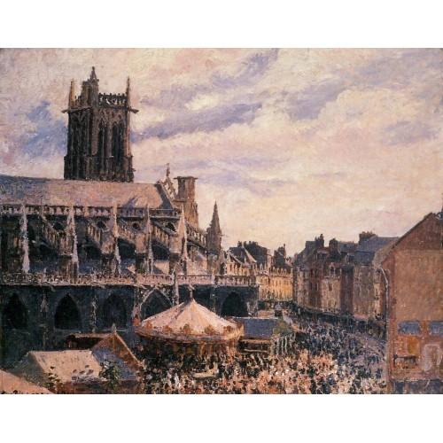 The Fair by the Church of Saint Jacques Dieppe