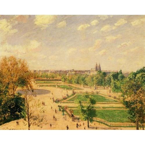 The Tuileries Gardens Morning Spring Sun