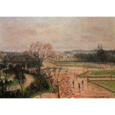 The Tuileries Gardens Rainy Weather