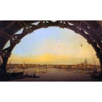 London Seen through an Arch of Westminster Bridge