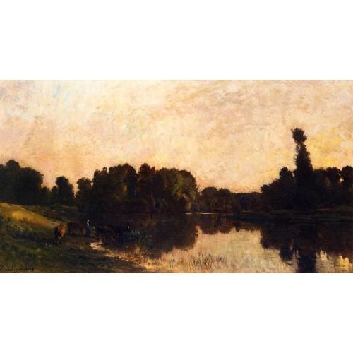 Daybreak the Oise Ile de Vaux