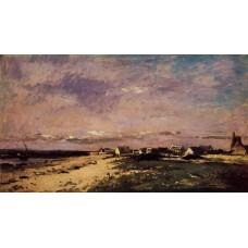 French Coastal Scene