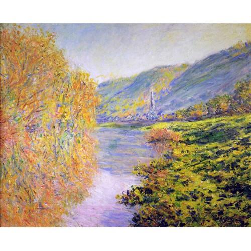 Banks of the seine at jeufosse autumn