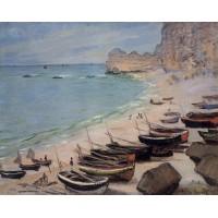 Boats on the Beach Etretat 1
