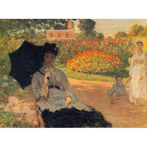 Camille monet in the garden
