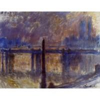 Charing Cross Bridge and Cleopatra's Needle